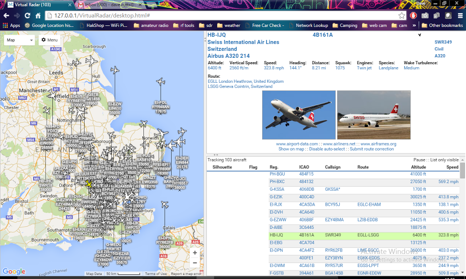 virtual radar map
