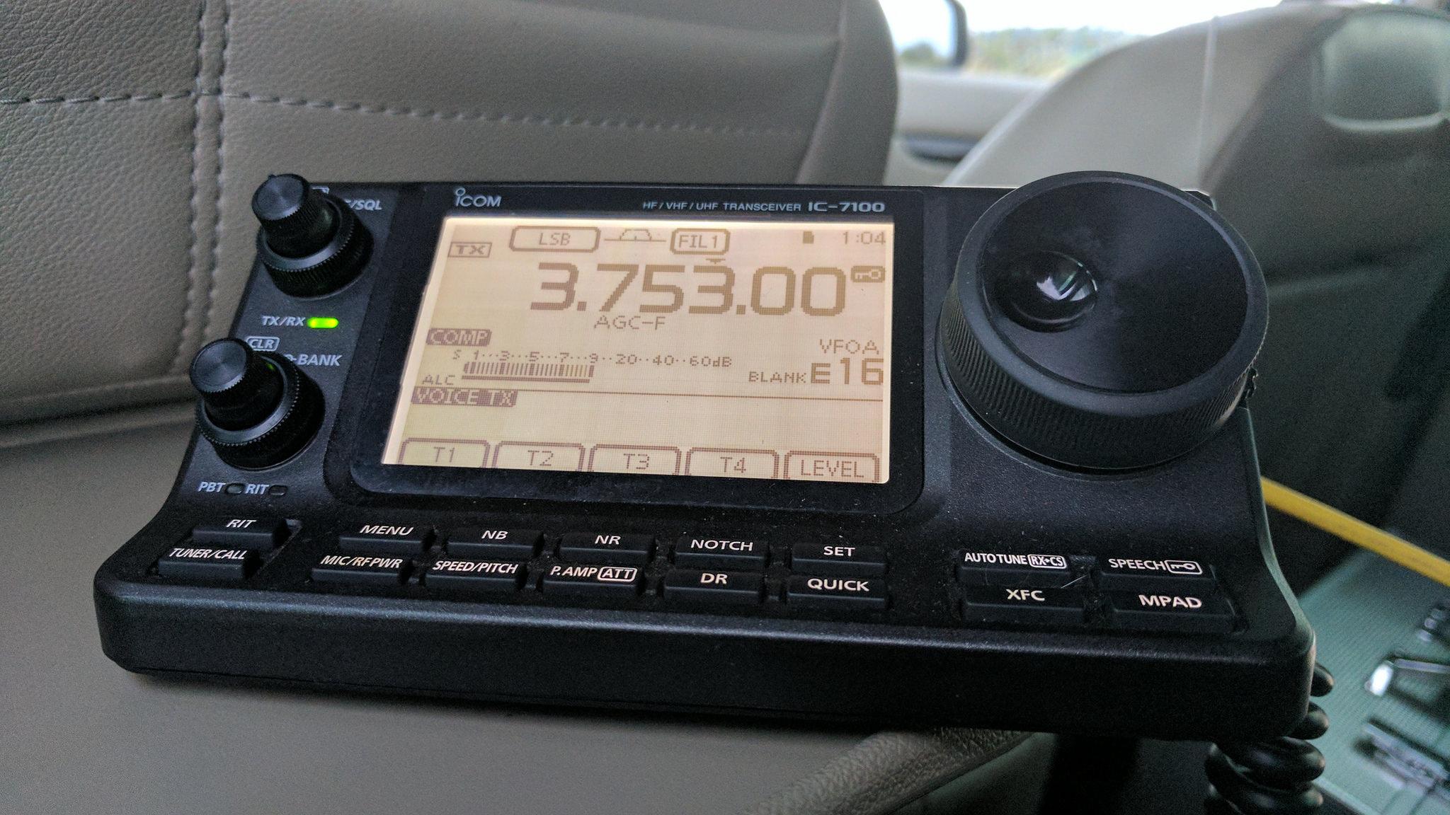 icom 7100 – M0TAZ
