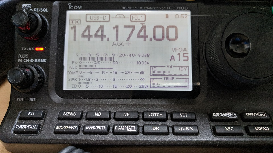 FT8 on 144 MHz – M0TAZ