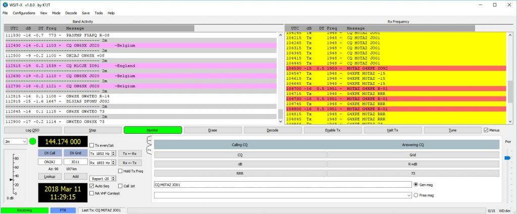 FT8 on 144 MHz – M0TAZ