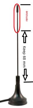 Cut down stock antenna